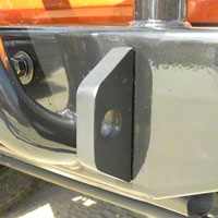 Olympic 4x4 2 D-Ring Mounting Brackets, Textured Black, 1/2 Hole (87-06 Wrangler YJ & TJ) - Olympic 4x4 341-404
