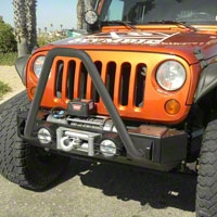 Olympic 4x4 341 D-Ring Mounts and 852 Light Pods Combo; Gloss Black (07-13 Wrangler JK) - Olympic 4x4 382-171