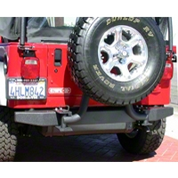 Olympic 4x4 57 in. Rock Rear Bumper, Textured Black (97-06 Wrangler TJ) - Olympic 4x4 550-124