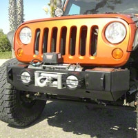Olympic 4x4 Rescue Winch Bumper End Caps, Textured Black (07-13 Wrangler JK) - Olympic 4x4 564-174
