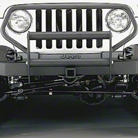 Olympic 4x4 Brush Guard, Textured Black (97-06 Wrangler TJ) - Olympic 4x4 670-124