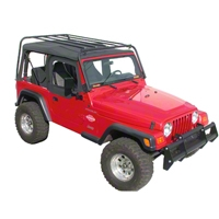 Olympic 4x4 Sports Rack, Textured Black (87-95 Wrangler YJ) - Olympic 4x4 901-114