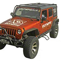 Olympic 4x4 Safari Sports Rack, Steel (07-13 Wrangler JK 4 Door) - Olympic 4x4 901-174-S