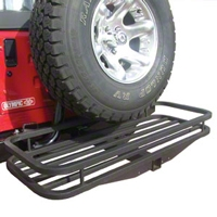 Olympic 4x4 Receiver Rack, Gloss Black (87-13 Wrangler YJ, TJ & JK) - Olympic 4x4 902-401