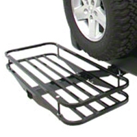 Olympic 4x4 Receiver Rack - Textured Black (87-15 Wrangler YJ, TJ & JK) - Olympic 4x4 902-404