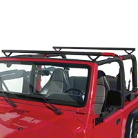 Olympic 4x4 Quick n Easy Rack, Textured Black (07-14 Wrangler JK 2 Door) - Olympic 4x4 908-164