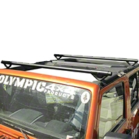 Olympic 4x4 Quick n Easy Rack, Textured Black (07-14 Wrangler JK 4 Door) - Olympic 4x4 908-174