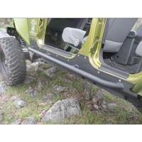River Raider Rock Sliders, Black Powdercoat (07-13 Wrangler JK, 4 Door) - River Raider Off Road 0120-pc