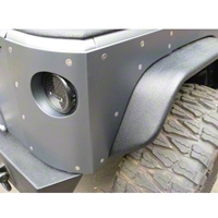 River Raider Crusher Corners, Black Powdercoat, Steel (07-13 Wrangler JK, 4 Door) - River Raider Off Road ARM-6674-PC