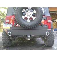 River Raider Trail Series Rear Bumper, Black Powdercoat (07-13 Wrangler JK) - River Raider Off Road BMP-3617-PC
