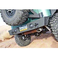 River Raider ST Rear Bumper w/Tire Carrier, Black Powdercoat (07-13 Wrangler JK) - River Raider Off Road BMP-6831-TC-PC