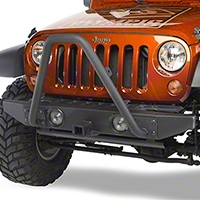 Olympic 4x4 Front Bumper Bar Only, Rubicon Black (07-15 Wrangler JK) - Olympic 4x4 264-174