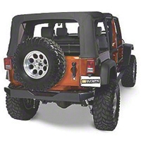 Olympic 4x4 Rear Rock Bumper - Textured Black (07-15 Wrangler JK) - Olympic 4x4 550-174