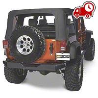 Olympic 4x4 Rear Rock Bumper - Textured Black (07-16 Wrangler JK) - Olympic 4x4 550-174