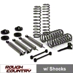 Rough Country 3.25 in. Lift Kit w/ Shocks (07-14 Wrangler JK 4 Door) - Rough Country PERF694