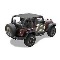 Bestop Header Safari Bikini Top, Khaki (10-13 Wrangler JK 2 Door) - Bestop 52583-36