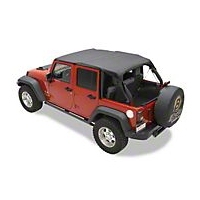 Bestop Header Safari Bikini Top, Khaki (10-13 Wrangler JK 4 Door) - Bestop 52584-36
