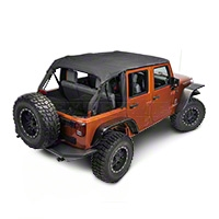 Rugged Ridge Pocket Island Top, Black Diamond (10-13 Wrangler JK 4 Door) - Rugged Ridge 13592.35