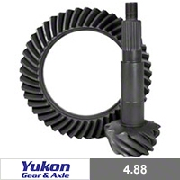 Yukon Gear Front Dana 44 Ring & Pinion Gear, 4.88 (07-13 Wrangler JK, Rubicon) - Yukon Gear YG D44RS-488RUB