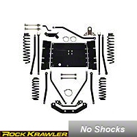 Rock Krawler 3.5 in. Triple Threat Long Arm System (03-06 Wrangler TJ) - Rock Krawler RKTJ35TTLA-02