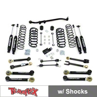 TeraFlex 3 in. Lift Kit w/FlexArms, Front Trackbar With Shocks (97-06 Wrangler TJ) - Teraflex 1456352
