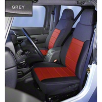 Rugged Ridge Neoprene Front Seat Covers, Gray (91-95 Wrangler YJ) - Rugged Ridge 13211.09