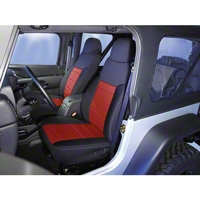 Rugged Ridge Neoprene Front Seat Covers, Red (91-95 Wrangler YJ) - Rugged Ridge 13211.53