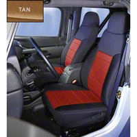 Rugged Ridge Neoprene Front Seat Covers, Tan (91-95 Wrangler YJ) - Rugged Ridge 13211.04