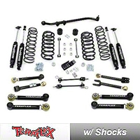 TeraFlex 3 in. Lift Kit w/Front Lower & Rear Upper FlexArms, Trackbar, Shocks (07-13 Wrangler JK 4 Door) - Teraflex 1256220