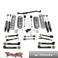 TeraFlex 3 in. Lift Kit w/Front Lower & Rear Upper FlexArms, Trackbar, Shocks (07-13 Wrangler JK 2 Door) - Teraflex 1256222