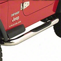 Smittybilt Sure Steps 3 in. Side Bar, Textured Black (04-06 Wrangler TJ Unlimited) - Smittybilt JN47-S2T