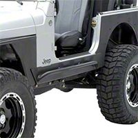 Smittybilt XRC Rock Sliders w/ Tube Step (04-06 Wrangler TJ Unlimited) - Smittybilt 76868