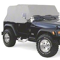 Smittybilt Gray Water Resistant Cab Cover, No Door Flaps (92-06 Wrangler YJ & TJ) - Smittybilt 1161