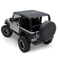 Smittybilt Extended Top, Black Diamond (10-13 Wrangler JK 2 Door) - Smittybilt 94235