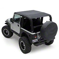 Smittybilt Extended Top, Black Diamond (04-06 Wrangler TJ Unlimited) - Smittybilt 93735
