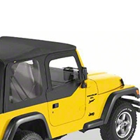 Bestop Fabric Replacement Upper Door Skins, Black Diamond (97-06 Wrangler TJ w/ Half Doors) - Bestop 53121-35