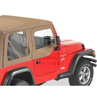 Bestop Fabric Replacement Upper Door Skins, Spice (97-06 Wrangler TJ w/Half Doors) - Bestop 53121-37