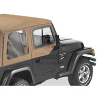 Bestop Upper Door Sliders for Factory Soft Top, Spice (97-06 Wrangler TJ) - Bestop 51787-37