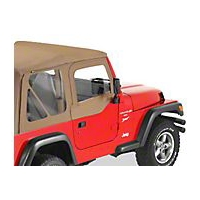 Bestop Upper Soft Doors for Factory Soft Top, Black Diamond (97-06 Wrangler TJ) - Bestop 51790-35