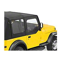 Bestop Upper Soft Doors for Factory Soft Top, Black Vinyl (88-95 Wrangler YJ) - Bestop 51782-01