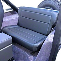 Rugged Ridge Fold & Tumble Rear Seat, Nutmeg (87-95 Wrangler YJ) - Rugged Ridge 13462.07