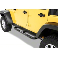 Bestop HighRock 4x4 Slider Step, Black (07-13 Wrangler JK 4 Door) - Bestop 49314-01