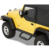 Bestop HighRock 4x4 Slider Step, Black (04-06 Wrangler TJ Unlimited) - Bestop 49315-01
