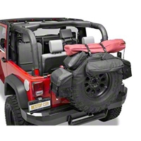 Bestop RoughRider Spare Tire Organizer for 30-33 in. Tires, Black Diamond (Universal Application) - Bestop 54133-35