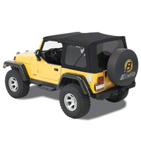Bestop Supertop NX w/ Tinted Windows, Twill, Matte Black (97-06 Wrangler TJ) - Bestop 54820-17