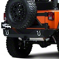 Barricade Trail Force HD Rear Bumper w/ Tire Carrier (07-14 Wrangler JK) - Barricade J20849