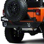Barricade Rock Crawler Rear Bumper w/ Tire Carrier (07-14 Wrangler JK) - Barricade J20849