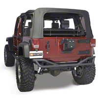 Olympic 4x4 Boa Rear Bumper - Textured Black (07-15 Wrangler JK) - Olympic 4x4 250-174