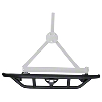 Rugged Ridge RRC Rear Bumper, 2-Inch Hitch & Tire Carrier (87-06 Wrangler YJ & TJ) - Rugged Ridge 11503.23