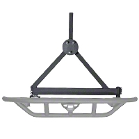 Rugged Ridge RRC Rear Bumper Tire Carrier, Titanium (87-06 Wrangler YJ & TJ) - Rugged Ridge 11503.61